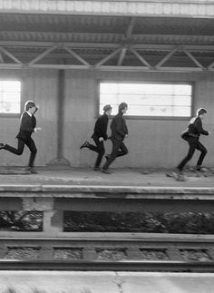 1964 - The Beatles in A Hard Day's Night film.