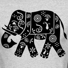 Motif Elephant Inde Tee shirts manches longues Personnaliser le motif Elephant indien Inde