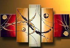 Home Decor - Wall Art - Oil Paintings - Abstract Paintings - Hand-painted Oil Painting Abstract Set of 5 Canvas Paintings For Sale, Paintings Famous, Oil Paintings, Painting Still Life, Western Decor, Online Painting, Oil Painting Abstract, Home Decor Wall Art, Mosaic Art