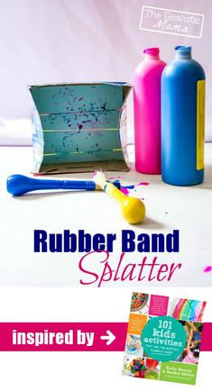 Rubber Band Splatter - a little messy, a lot of fun! *awesome fine motor activity {playful learning}