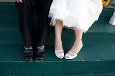 white wedding heels, wedding heels, white heels, white heels with buckle, buckle shoes, buckle dress shoes, wedding shoes