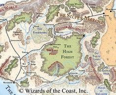 faerun map high forest - Google Search