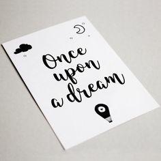 "Carte postale ""Once upon a dream"" - Carte postale à offrir - Carte postale pour décorer - Décoration chambre"