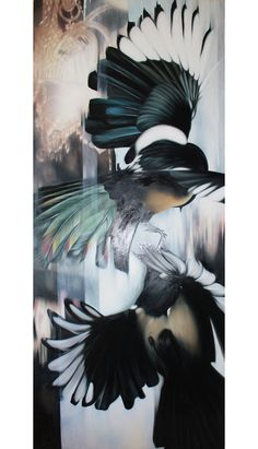Josie Morway-Click to be led to her page.  I love her paintings with animals, masterfully done.