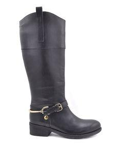 Look at this #zulilyfind! VOLATILE Black Addict Boot by VOLATILE #zulilyfinds