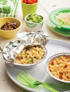 Mix-In Mac  Cheese- LOVE this! Lots of other great cookout/camping ideas