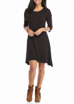 Living Doll Black Living Doll Swing Pocket Dress