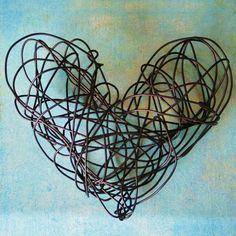 wire heart art