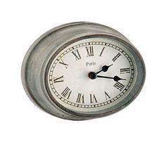 Parisian Wood & Glass Metro Oval Wall Clock - Grey Barreveld $19.99 fast free shipping!