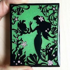 Disney Little Mermaid Ariel and Flounder Silhouette LE Fantasy Pin Disney Little Mermaids, Ariel The Little Mermaid, Ariel Disney, Disney Vacation Club, Disney Vacations, Ariel And Flounder, Disney Inspired, Stencils, Silhouette