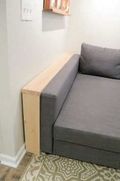 Easy DIY Behind the Couch Table Bye Bye Spilled Wine! DIY behind the sofa table/shelf. Cheap and easy! The post Easy DIY Behind the Couch Table Bye Bye Spilled Wine! appeared first on Tisch ideen. Shelf Behind Couch, Behind Sofa Table, Sofa Shelf, Table Shelves, Room Shelves, Sofa Table Decor, Sofa Tables, Entry Tables, Diy Couch