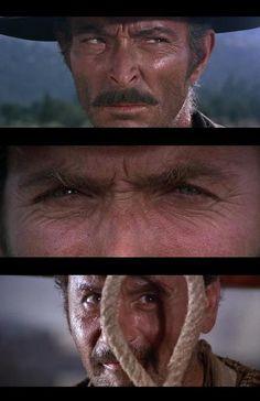 Lee Van Cleef, Clint Eastwood, & Eli Wallach in The Good, the Bad, & the Ugly (1966, dir. Sergio Leone)