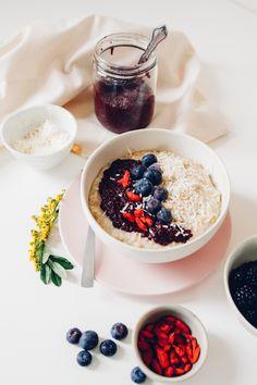 Breakfast Oats with Super Berry Jam — Treasures & Travels