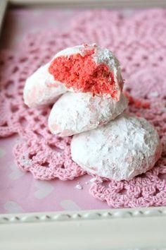 Valentine Snowball Cookies