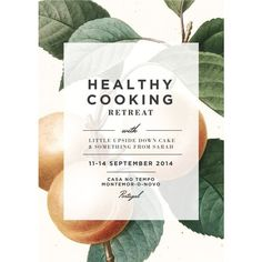 Healthy Cooking Retreat Portugal ❤ liked on Polyvore featuring home, kitchen & dining and text