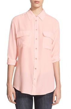 Equipment 'Slim Signature' Silk Shirt available at #Nordstrom