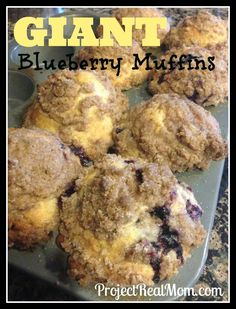 GIANT Blueberry Muffins