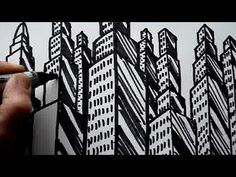 How to draw skyscrapers. In this art video you can see a really simple way of drawing buildings, starting with an arrow. Once you can do that then you can draw wonderful skyscrapers and cities.