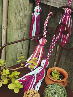 06 - Borlas trenzadas - Crochet Totora
