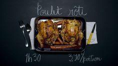 Poulet rôti | Cuisine futée, parents pressés, délicieux, rappelle le poulet rôti du magasin mais mois salé et moins gras Roasted Chicken, Tandoori Chicken, Quebec, Great Recipes, Meal Prep, Meal Planning, Chicken Recipes, Food Photography, Healthy Eating