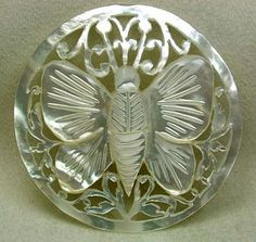Bethlehem Pierced Mother-of-Pearl 'Butterfly' Button - 1930s.