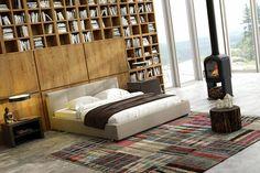 Łóżko tapicerowane TIFFANY z pojemnikiem na pościel Vieri Divani