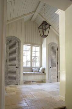 hallway | shutter style doors