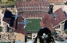 AMAZING MILITARY FLYOVER - TEXAS AGGIES FOOTBALL STADIUM!