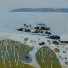 Simon Pooley (British, b. Abstract Landscape Painting, Seascape Paintings, Landscape Art, Landscape Paintings, Art Folder, Amazing Paintings, Water Art, Sea Art, Art Abstrait