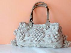 Sacs à bandoulière, Cadeaux pour maman-main Sac Crochet Beige est une création orginale de muratyusuf sur DaWanda