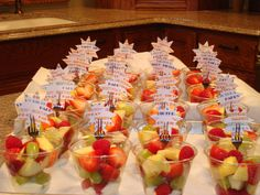 Classroom Birthday Treat-Fruit cups and use the fork to hold a birthday message for your child!