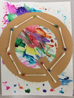 Q is for q-tip Q tip painting Letter q craft Preschool