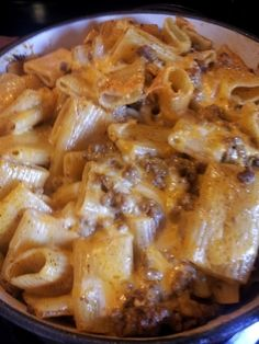 OH MY! must try! ingredients: 3/4 bag ziti noodles 1 lb of ground beef 1 pkg taco seasoning 1 cup water 1/2 pkg cream cheese 1 1/2 cup shredded cheese boil pasta until just cooked, brown ground beef  drain, mix taco seasoning  1 cup water w/ ground beef for 5 min, add cream cheese to beef mixture, stir until melted  remove from heat, put pasta in casserole dish, mix in 1 cup cheese, top pasta/cheese with beef mixture  gently mix, top w/ remaining cheese, bake at 350* uncovered for 15-20…