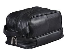d505a23937 Amazon.com  Mens Toiletry Bag Shaving Dopp Case For Travel  Health    Personal Care