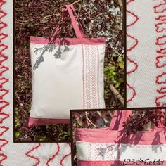 Tasche z.T. aus Kissenbezug / Bag partly made from pillowcase / Upcycling