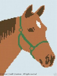 Crochet Pattern/Patterns - HORSE afghan pattern
