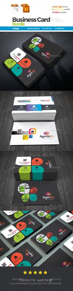 #Business #Card Bundle: 2 in 1 - Creative Business Cards