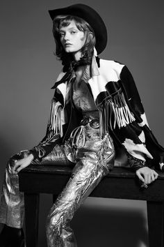 cowboy kate: peyton knight by liz collins for flair spring / summer 2016