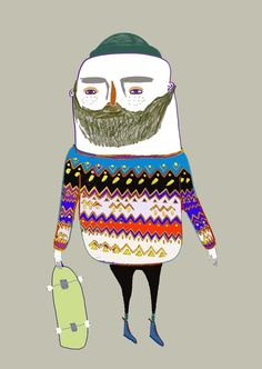 Hipster Dude by Ashley Percival.