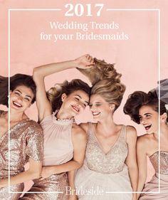 2017 wedding trends and bridesmaid dresses 2017 Wedding Trends, Wedding 2017, Wedding Tips, Neutral Bridesmaid Dresses, Wedding Bridesmaids, Weddings, Disney Princess, Board, Girls