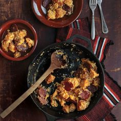 Migas | SAVEUR This is what I am making myself for breakfast tomorrow and I am so excited!!!! Kind of sounds like something you need after a night of drinking.