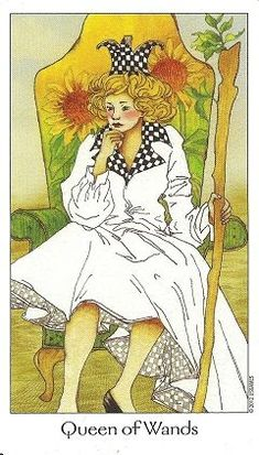 Queen of Wands. Dreaming way Tarot. King Of Wands, Le Tarot, Isabella Rossellini, Current President, Tarot Card Meanings, Oracle Cards, Past Life, Tarot Reading