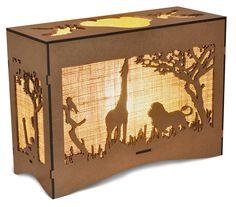 Animal bush scenes Hope Chest, Lamps, Arts And Crafts, Fire, Animal, Storage, Home Decor, Lightbulbs, Purse Storage