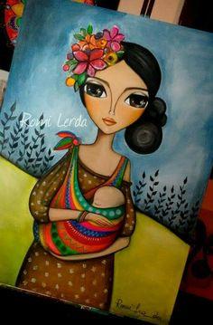 Illustration Paris, Art Therapy Activities, Doll Painting, Native Art, Art Design, Face Art, Indian Art, African Art, Art Pictures