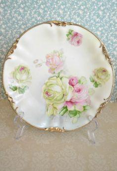 Gorgeous Antique ES Prussia Porcelain Plate