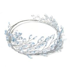 Light Blue Headpiece ELF Crown Silver Head Wreath by curtainroad