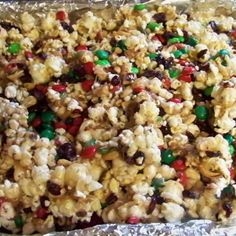 This is our movie night favorite! I admit I tend to over indulge, but cannot help myself!:)  The picture is one I made at the holidays using red/green M&M's