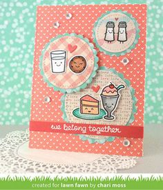 Bugs, kisses & birthday wishes, Lawn Fawn card