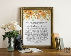 Instant 'Let the morning bring me word of by mylovenotedesigns
