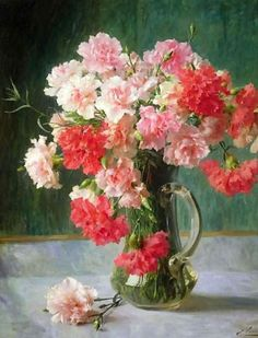 Emile Vernon Still life of Carnations print for sale. Shop for Emile Vernon Still life of Carnations painting and frame at discount price, ships in 24 hours. Painting Still Life, Still Life Art, Art Floral, Vernon, Munier, Still Life Flowers, Pictures To Paint, Framed Pictures, Oeuvre D'art